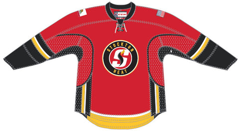 Reebok-CCM Stockton Heat Customized Premier Red Jersey