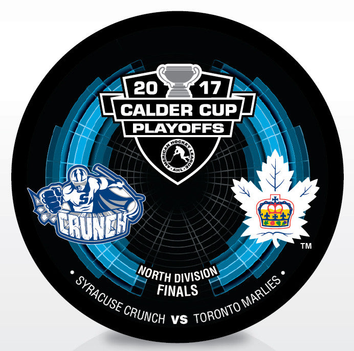 Syracuse Crunch vs. Toronto Marlies 2017 Calder Cup Playoffs Dueling Souvenir Puck