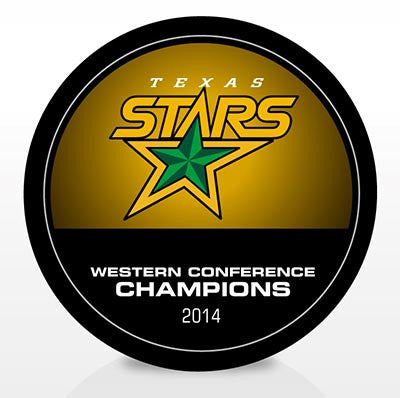 Texas Stars 2014 Western Conference Champions Souvenir Puck