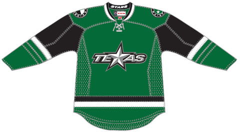 Reebok-CCM Texas Stars Customized Premier Green Jersey