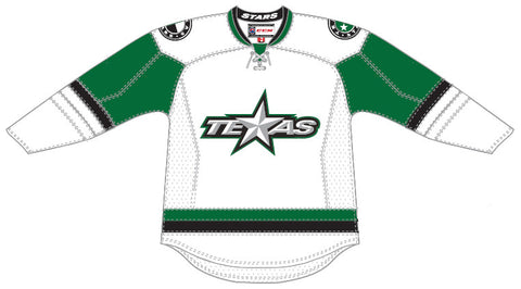 CCM Edge Texas Stars Customized Premier White Jersey