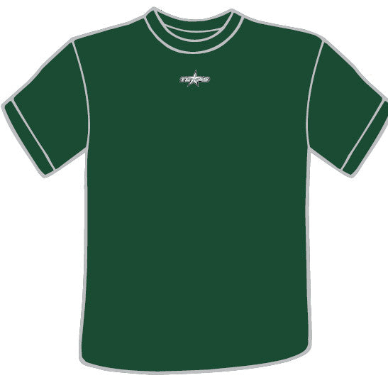 Texas Stars Competitor Adult Short Sleeve T-Shirt (Forest Green sidewalk sale)