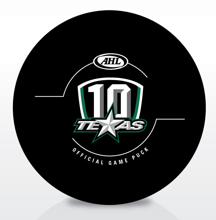 Texas Stars 10th Anniversary Official Game Puck