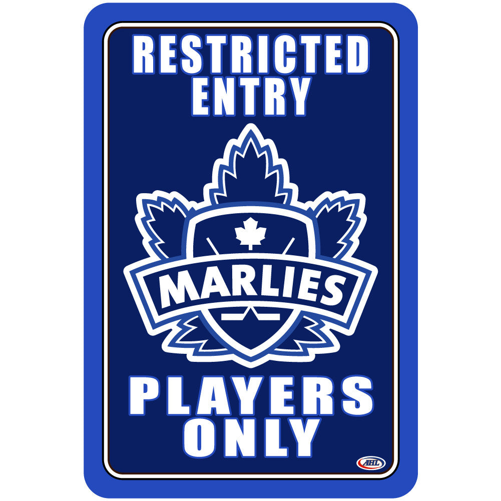 "Toronto Marlines ""Players Only"" Sign"