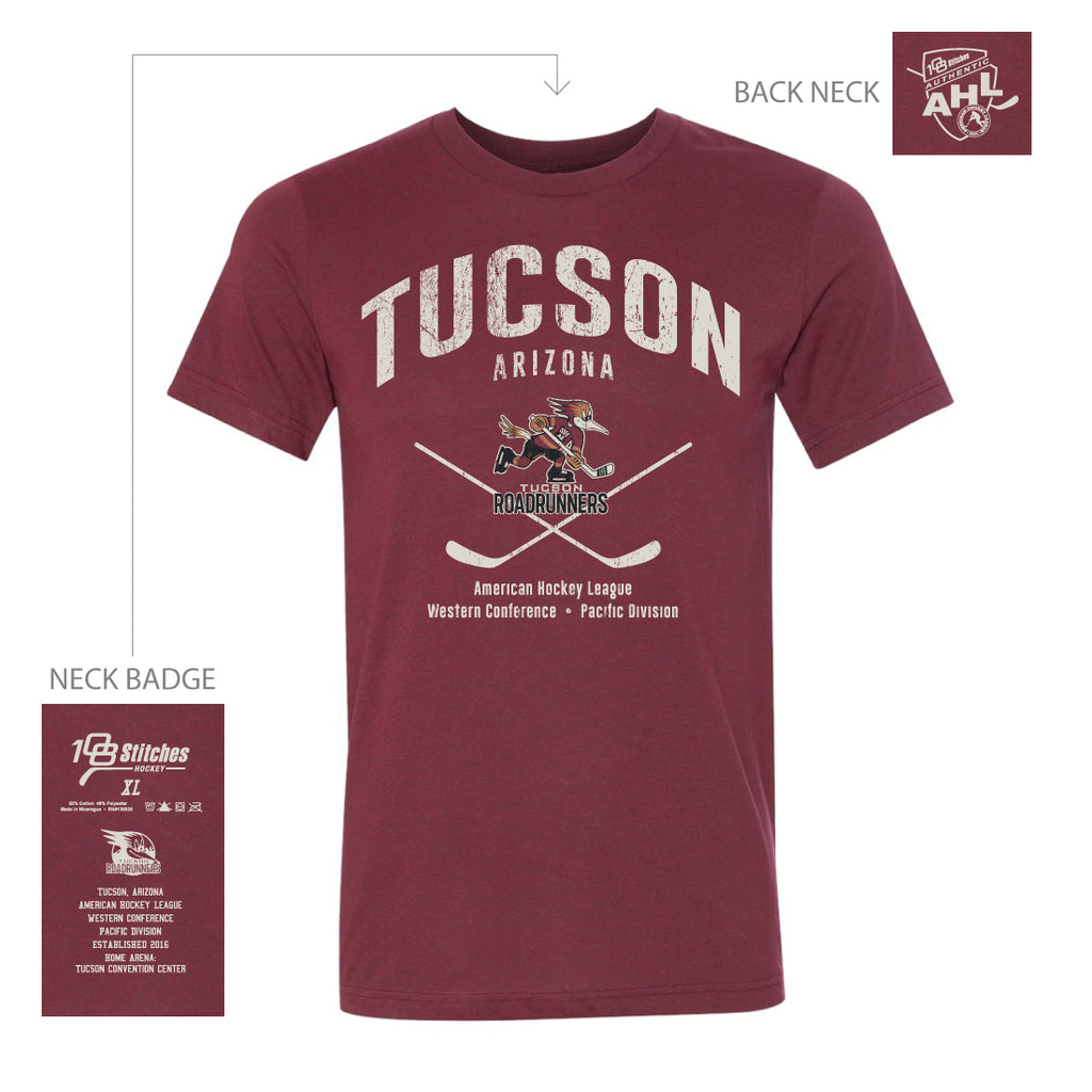 108 Stitches Tucson Roadrunners Adult Classic T-Shirt