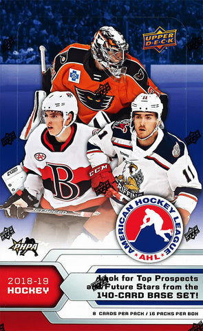 2018-19 Upper Deck AHL Hockey Trading Cards Hobby Box