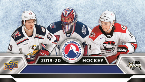2019-20 Upper Deck AHL Hockey Trading Cards Hobby Box