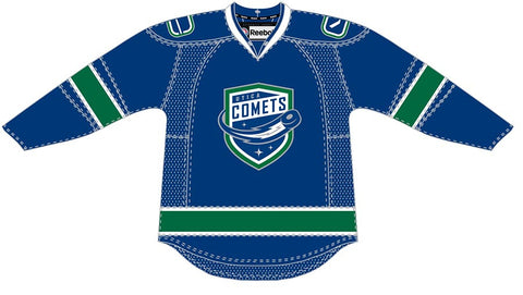 Reebok-CCM Utica Comets Customized Premier Blue Jersey