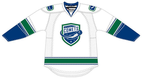 CCM Edge Utica Comets Customized Premier White Jersey