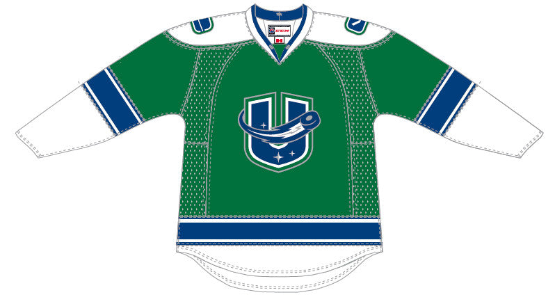 CCM Utica Comets Customized Premier Third Jersey (Green)