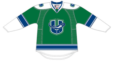 67a5bec6 CCM Utica Comets Customized Premier Third Jersey (Green)