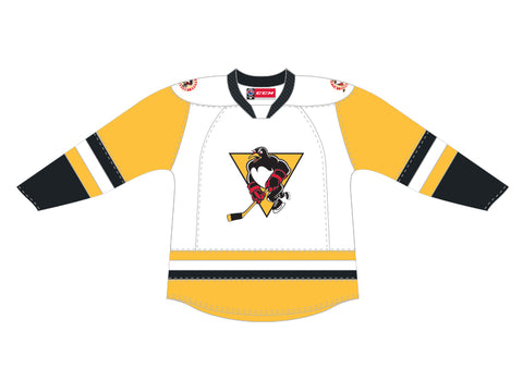 CCM Quicklite Wilkes-Barre/Scranton Penguins Customized Premier White Jersey