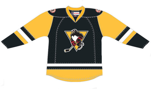 CCM Wilkes-Barre/Scranton Penguins Customized Premier Black Jersey (16-17 Season)