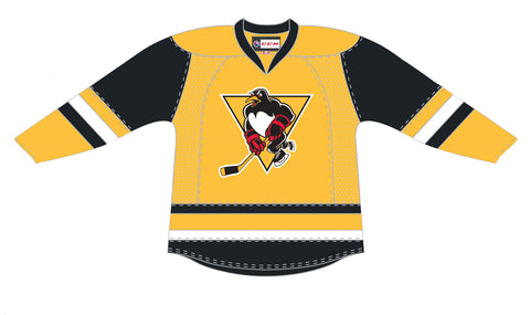 CCM Wilkes-Barre/Scranton Penguins Customized Premier Gold Third Jersey