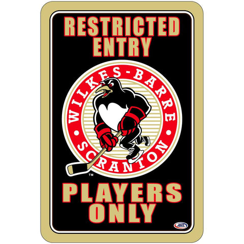 "Wilkes- Barre/Scranton Penguins ""Players Only"" Sign"