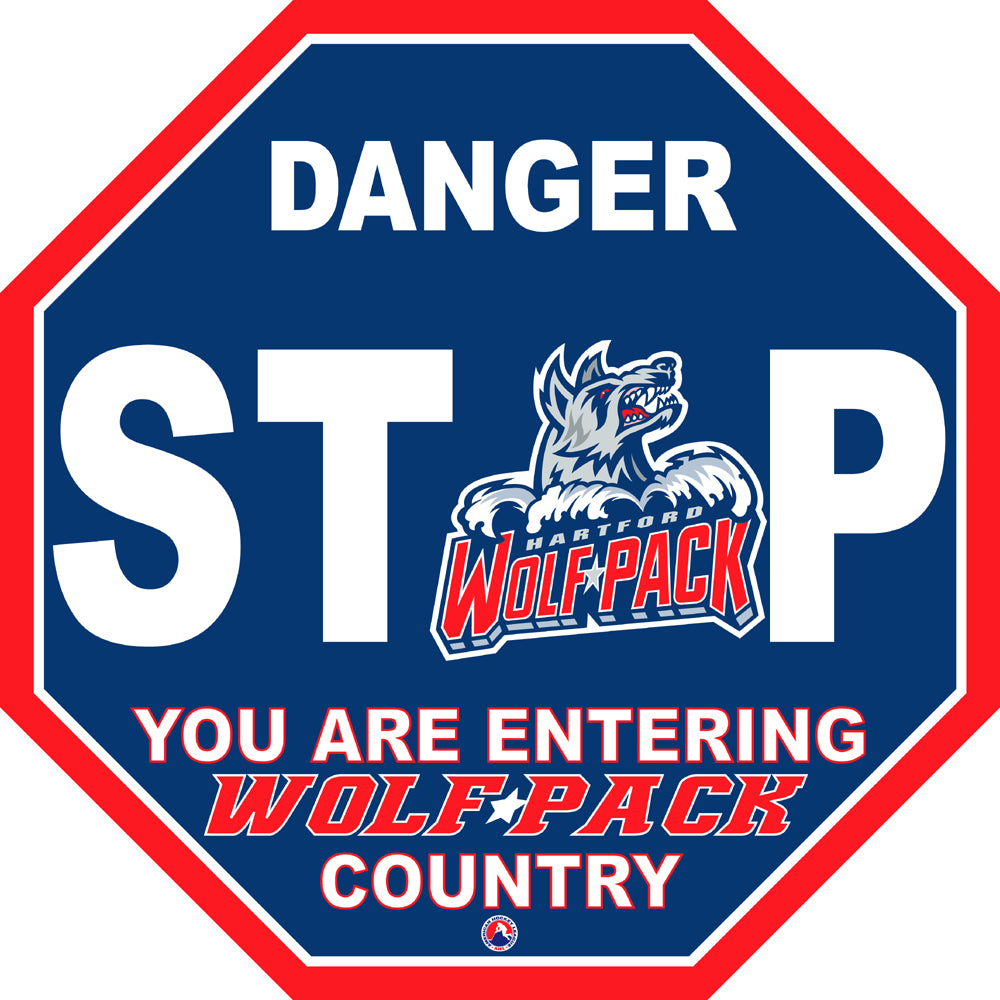Hartford Wolf Pack Fan Stop Sign