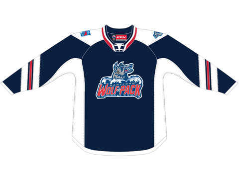 CCM Quicklite Hartford Wolf Pack Customized Premier Blue Jersey