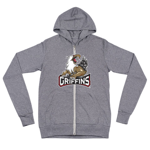 Grand Rapids Griffins Adult Primary Logo Full Zip Hoodie