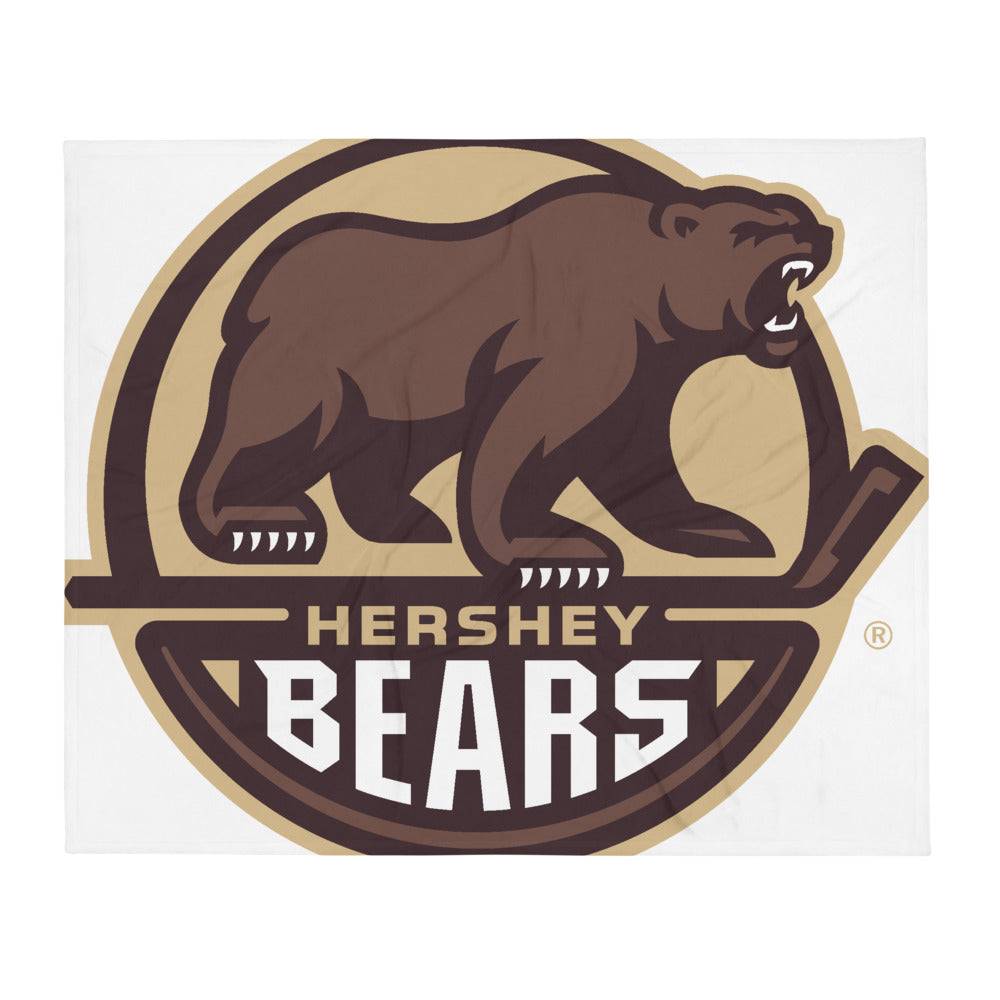 Hershey Bears Primary Logo Throw Blanket