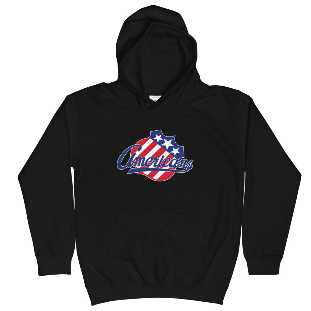 Rochester Americans Primary Logo Youth Pullover Hoodie