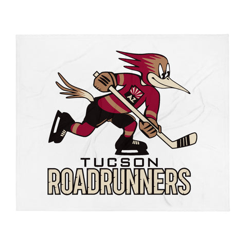 Tucson Roadrunners Primary Logo Throw Blanket