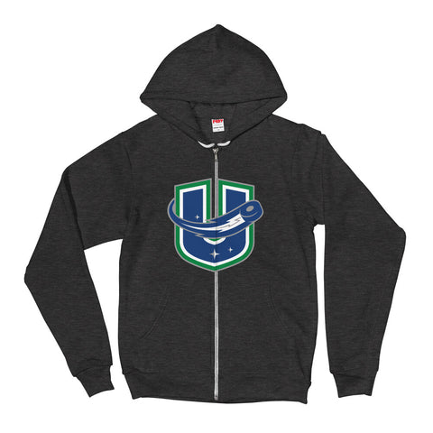 Utica Comets Adult Alternate Logo Printed Zip Up Hoodie