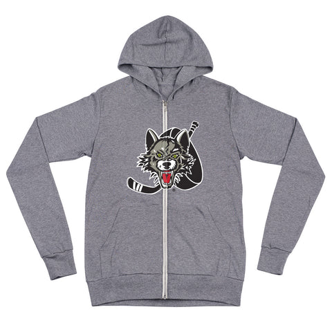 Chicago Wolves Adult Primary Logo Full Zip Hoodie