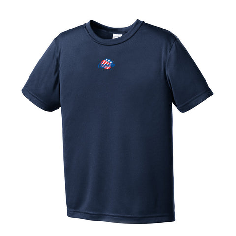 Rochester Americans Youth Competitor T-Shirt (Navy sidewalk sale)