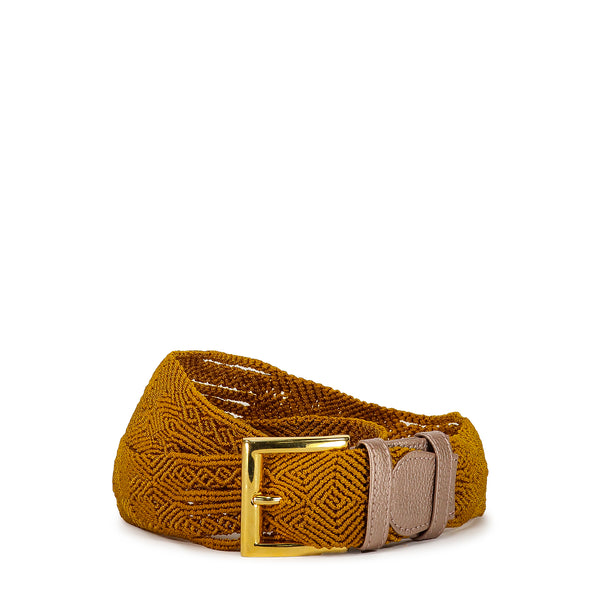 Gold Woven Belt - Tea & Tequila