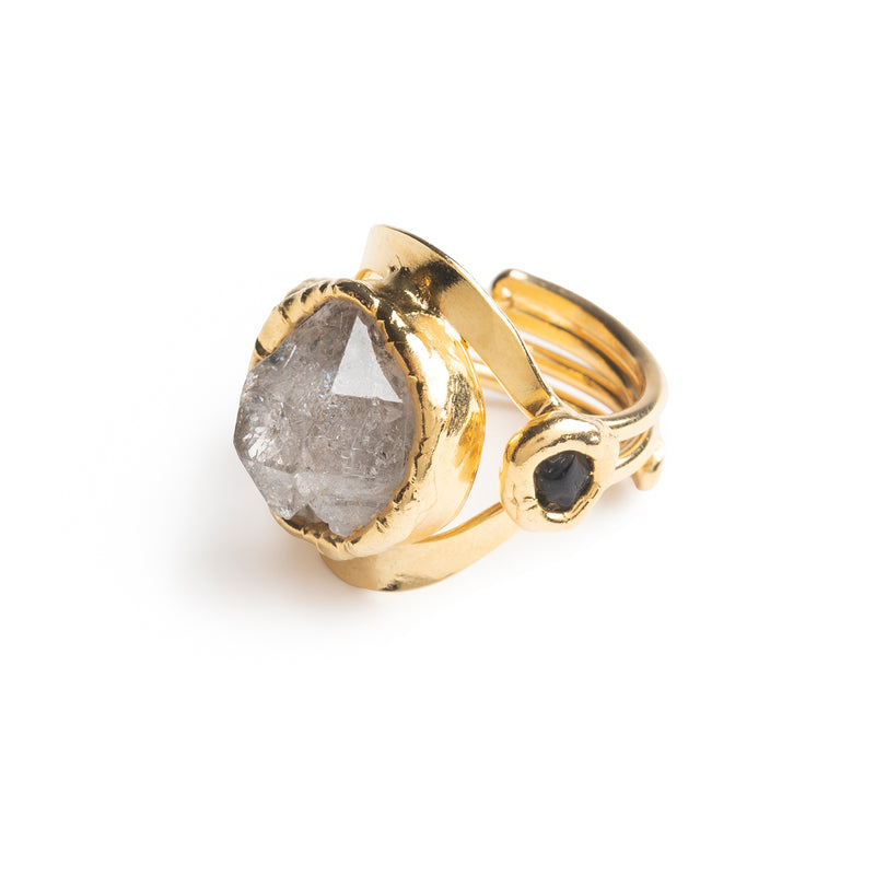 Clear Quartz Ring - Tea & Tequila