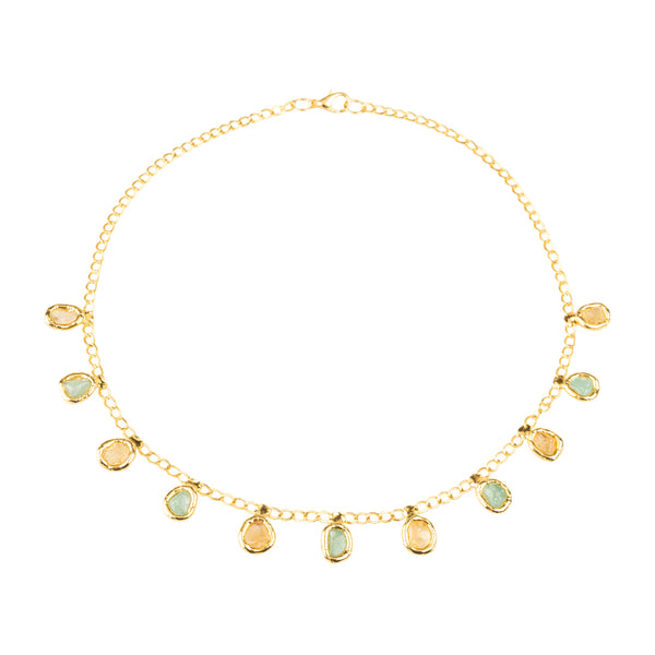 Citrine & Jade Gemstone Necklace - Tea & Tequila