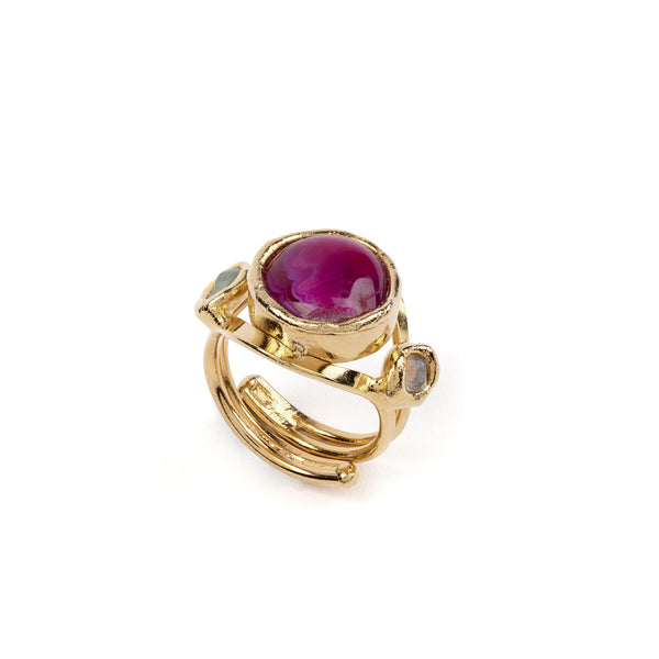 Pink Agate Ring - Tea & Tequila