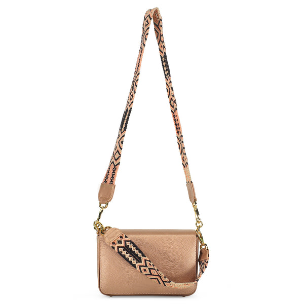 Dusty Rose Señorita Bag in Leather - Tea & Tequila