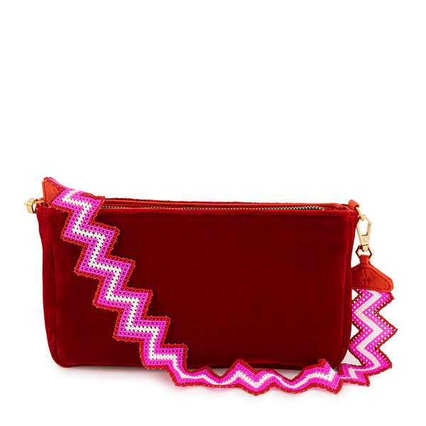 Cherry Taco Bag in Velvet - Tea & Tequila