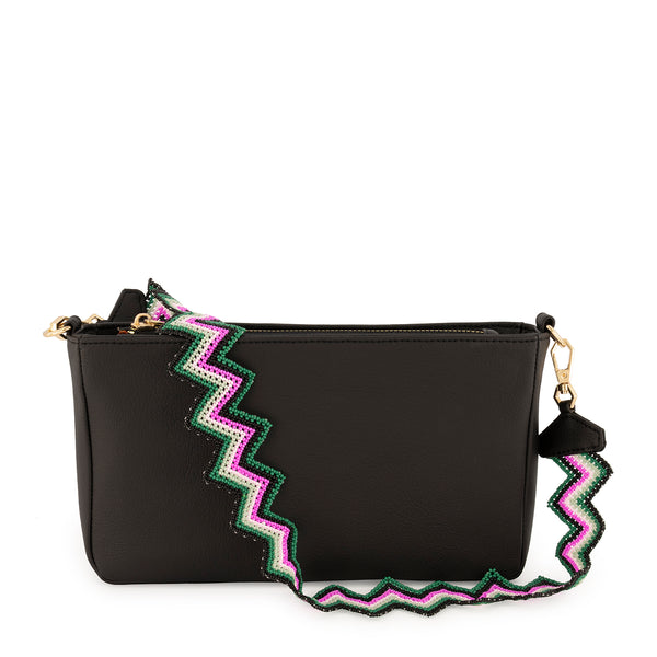Black Rainbow Taco Bag in Cactus Leather - Tea & Tequila