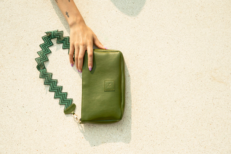 Avocado Taco Bag in Cactus Leather - Tea & Tequila