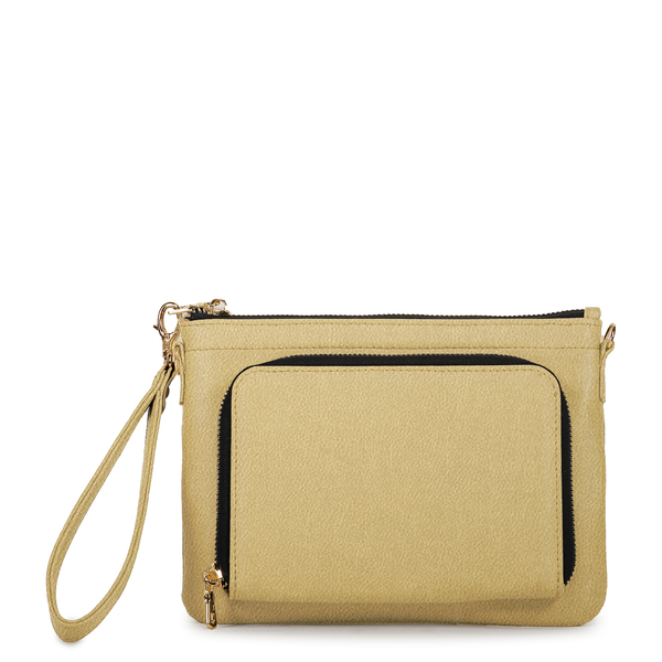 Gold Concha Bag in Cactus Leather - Tea & Tequila