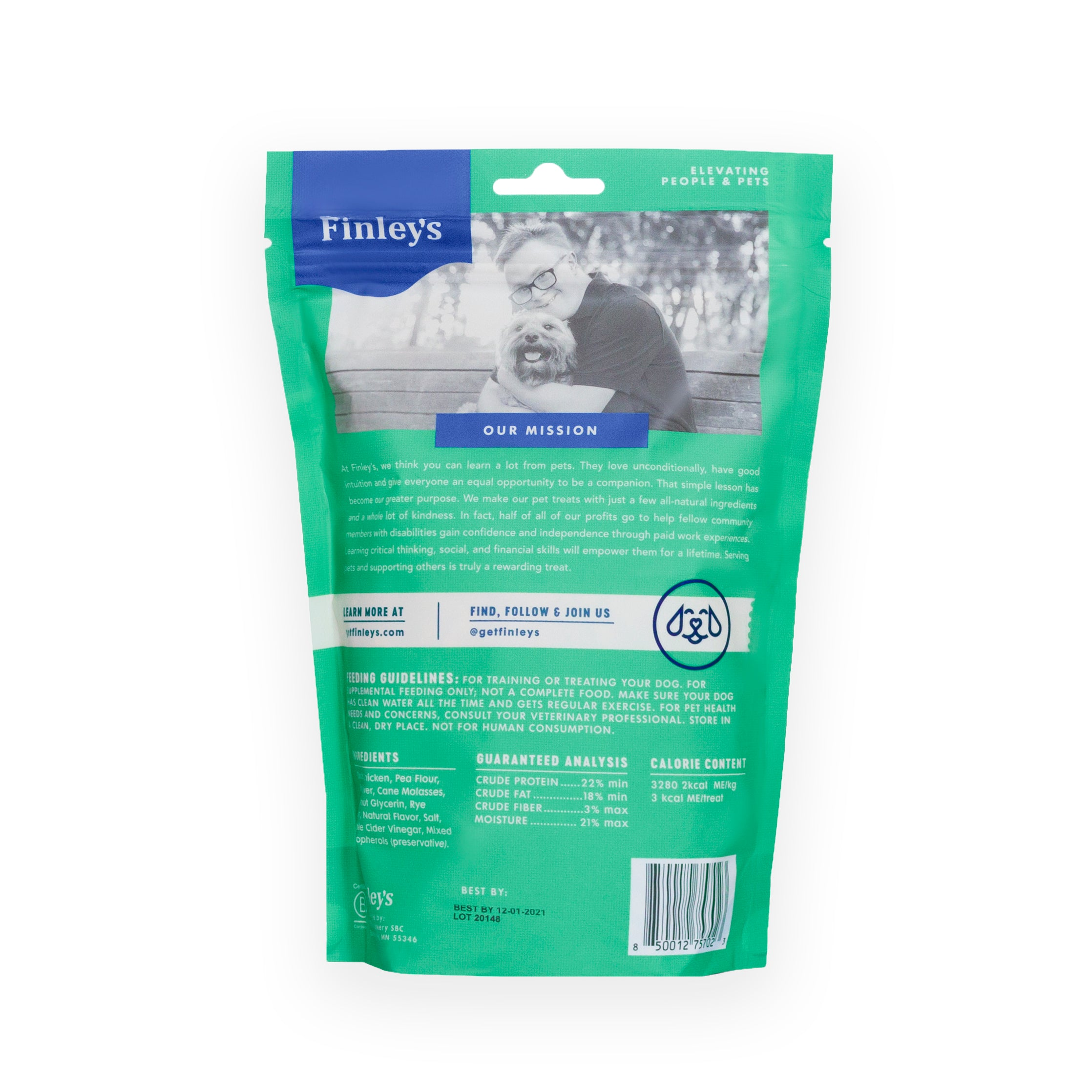 Finley's Duck Recipe Soft Chew Training Bites 16oz.