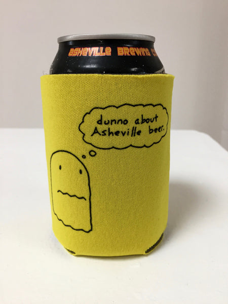 'dunno about Asheville beer' collapsible foam koozie