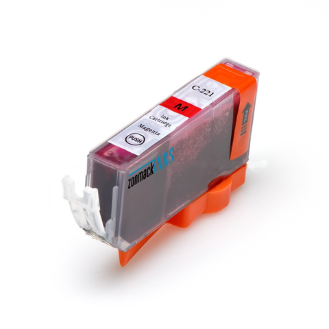 Single Magenta Canon CLI-221M Compatible Ink Cartridge by Zonmack Inks™