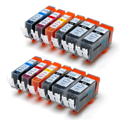 Canon PGI-225 & CLI-226 12-Pack Compatible Ink Cartridges (Models c-225 and c-226) by Zonmack Inks™