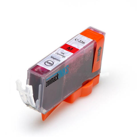 Single Magenta Canon CLI-226M Compatible Ink Cartridge by Zonmack Inks™