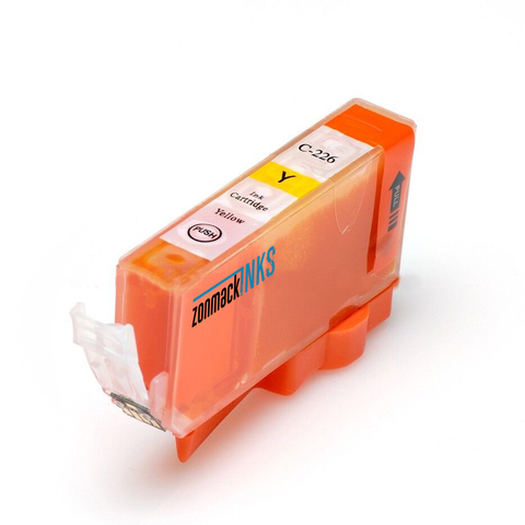 Single Yellow Canon CLI-226Y Compatible Ink Cartridge by Zonmack Inks™