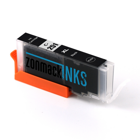 Two Black Canon CLI-251XL-B Compatible Ink Cartridges by Zonmack Inks™
