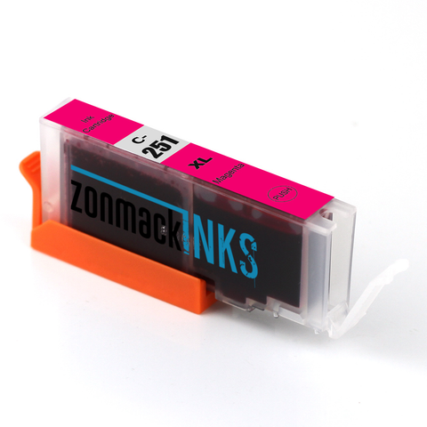 Two Magenta Canon CLI-251XL-M Compatible Ink Cartridges by Zonmack Inks™