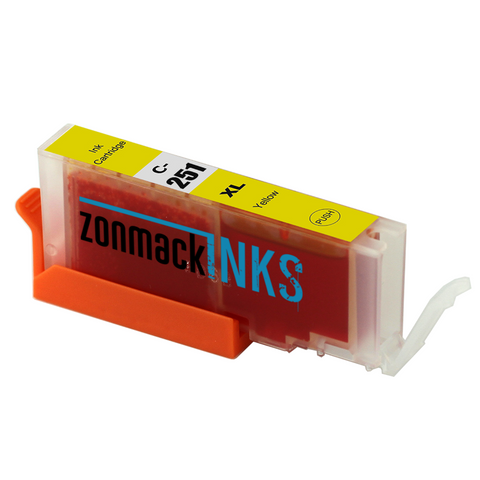 Two Yellow Canon CLI-251XL-Y Compatible Ink Cartridges by Zonmack Inks™