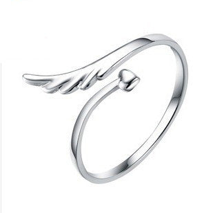 Angel Wings 925 Sterling Silver Ring -  One Size