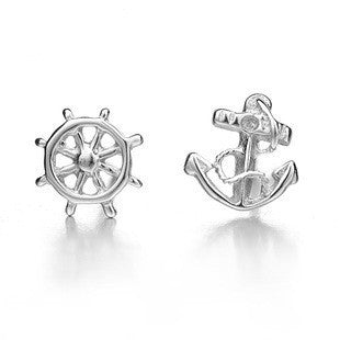 Anchors Away! Earrings in 925 Sterling Silver