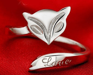 Love Fox 925 Sterling Silver Ring - One Size