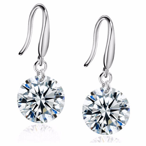 ***DEAL OF THE WEEK*** 8mm Crystal Zircon Drop Earrings
